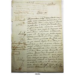 1815 colonial document from Lima, Peru, regarding slaves from Coquimbo (Chile).