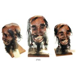 Hand-crafted mummified head of Blackbeard (with stand) by internationally known artist Barry Anderso