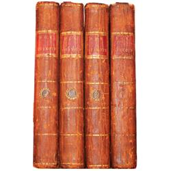 Cervantes, Miguel de. The History and Adventures of The Renowned Don Quixote, 4 volumes (1782 Englis