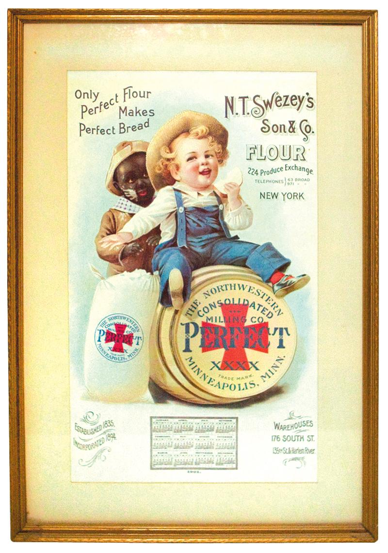 "Swezey/'s Son /& Co Flour 1901 Calendar Ad Poster Print 16/"" x 20/"" Vintage N.T"