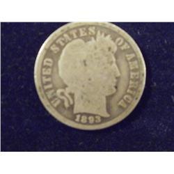 1893 Silver Barber Dime