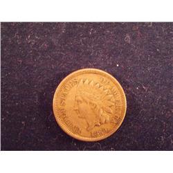 1860 Indian Head Penny XF/AU    3ch