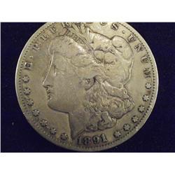 1891 Carson City Silver Dollar, VF   ch5