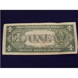 1935A Hawaii $1 Silver Certificate      2ch