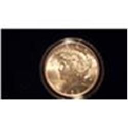 1922 Brilliant Uncirculated Silver Peace Dollar        2ch