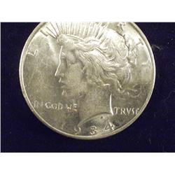 Better Date 1934-D AU Silver Peace Dollar
