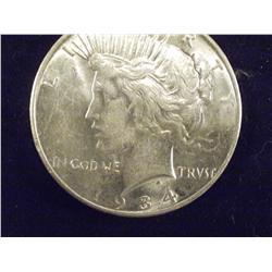 Better Date 1934-D AU Silver Peace Dollar