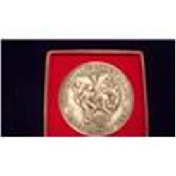 1969 UT 7.14 Oz Pure Silver Football Championship Medal