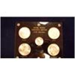 20TH Century Dollar Set, 5 Pieces