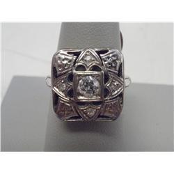 .25 Carat Solitaire White Gold Estate Ladies Ring