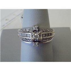 3 Band White Gold Diamond Wedding Ring