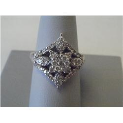 1 Carat Estate Diamond Ring,14K White Gold