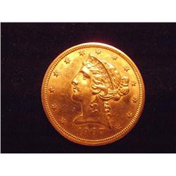Nice 1907 $5 Gold Liberty Coin
