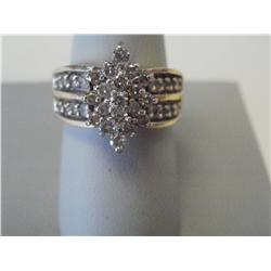 1.25 Carat Diamond Cluster Ring