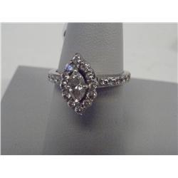 1.25 Carat Diamonds W/Marquis Shaped Center Diam.