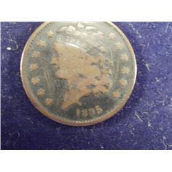 RARE 1835 1/2 Cent