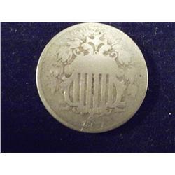 1867 Rare Shield Nickel