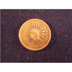 RARE 1859 Cent, F/VF