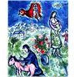 """Marc Chagall """"Sur la Route du Village"""" Lithograph W/COA"""