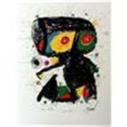 """Miro """"Ma de Proverbis"""" Lithograph, 1970"""