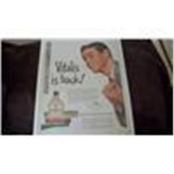 Original Vintage Vitalis Magazine Ad
