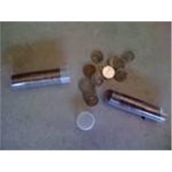 5 Rolls Steel Lincoln Cents, 250 Coins