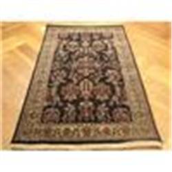 3'X5' Handmade Kashmir Kashan Wool Rug