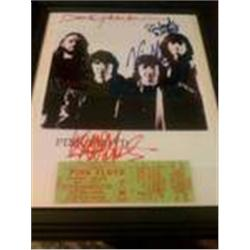 Pink Floyd Signed Photo and Original Ticket