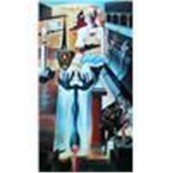 """Salvador Dali """"Invisible Man"""" Ltd Edition Lithograph"""