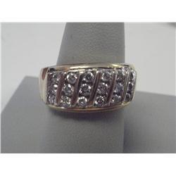1 1/2 Carat Channel Set Diamond Ladies Ring, 6.5 Gr 14K Gold
