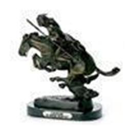 Cheyenne Bronze Remington Sculpture