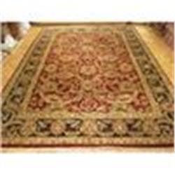 Fine 9'x12' Handmade Oriental Isfahan, Wool & Silk, 400 Knots Per Sq. Inch