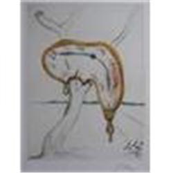 """Tearful Soft Watch"" Salvador Dali Lithograph"