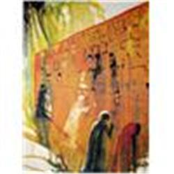 "Dali's Amazing ""Wailing Wall"" Lithograph, Plate Signed,Ltd Edition W/Coa"