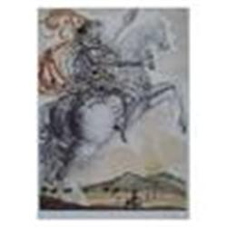 Dali   Don Quixote  Plate Signed & Numbered Lithograph