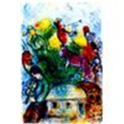 """Marc Chagall """"Shofar"""" Lithograph,Ltd Edition W/Coa"""