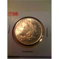 1888 Silver Morgan Dollar, Brilliant Uncirculated