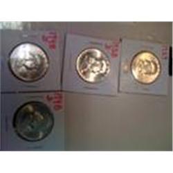 4 BU Franklin Silver Half Dollars