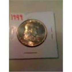 1949 BU Franklin Silver Half Dollar