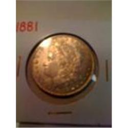 1881 Silver Morgan Dollar
