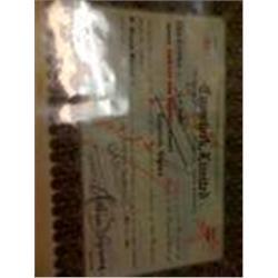 """Rare Old """"Comstock Ltd."""" Stock Certificate"""
