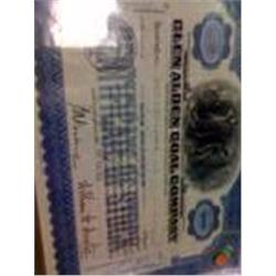 "Rare Old ""Glen Alden Coal "" Stock Certificate"