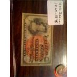 4th issue 1869-75 Fractional Money