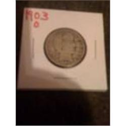 1903-O Silver Barber Quarter