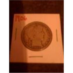 1906 Silver Barber Half Dollar