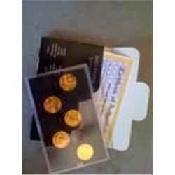 2005 gold set state quarters