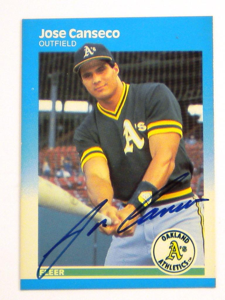 Jose Canseco Autographed Baseball Card