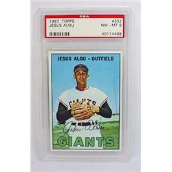 1967 TOPPS JESUS ALOU NO. 332 BASEBALL CARD - PSA