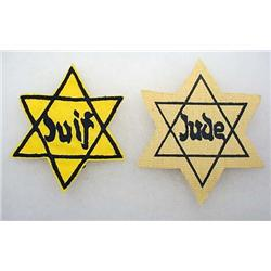 LOT OF 2 WW2 GERMAN JEWISH CONCENTRATION CAMP UNIF