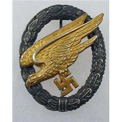 WW2 GERMAN NAZI LUFTWAFFE PARATROOPER BADGE - 2 Do